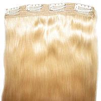 Натуральные волосы на клипсах 52 см. Оттенок №20. Масса 100 грамм., фото 1
