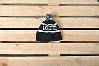 Молодежная мужская/женская зимняя шапка с помпоном Dope реплика