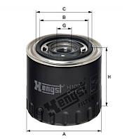 Фильтр масляный OPEL MOVANO-A, RENAULT MASTER I, II 2.5-2.8 D (пр-во HENGST) H10W21
