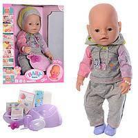 Кукла-пупс BB 8020-445B интерактивная, 9 функций, 42 см, плачет, можно купать и кормить