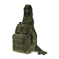 Тактический рюкзак однолямочный Silver Knight с системой M.O.L.L.E Olive(098), фото 1