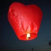 Летающий фонарик СЕРДЦЕ БОЛЬШОЕ