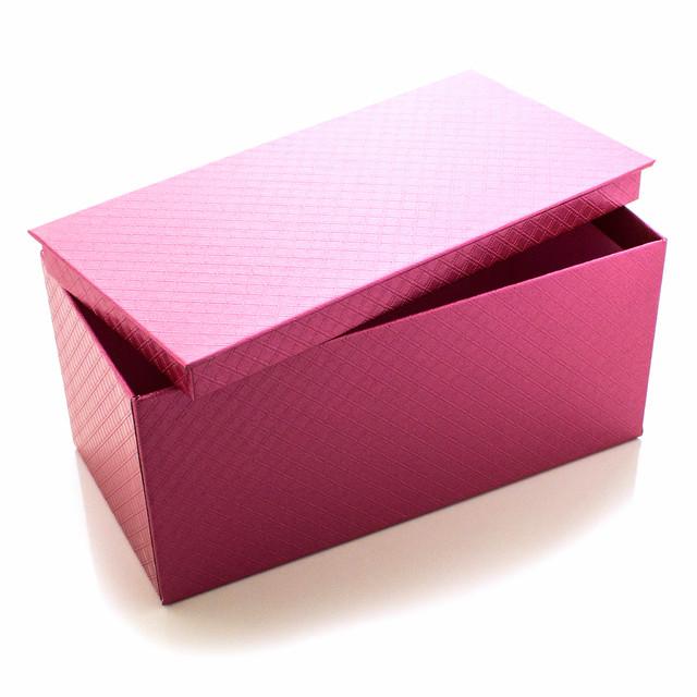 Подарочная коробка Розовый Металлик 21 x 9.5 x 10.5 см