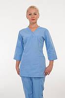 Качественный медицинский костюм медсестры в голубом цвете