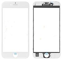✅Стекло для iPhone 6S, белое, с рамкой, с OCA-пленкой