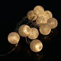 Бежевые тайские светящиеся гирлянды, шарики-фонарики, тайский светильник