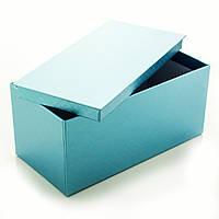 Подарочная коробка Голубой Металлик 21 x 9.5 x 10.5 см