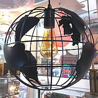 Люстра LOFT Глобус черная