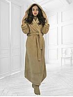 Женский длинный махровый халат 42-48