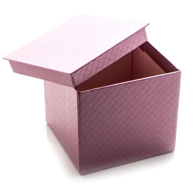 Подарочная коробка Сиреневый Металлик 10.5 x 9.5 x 10.5 см