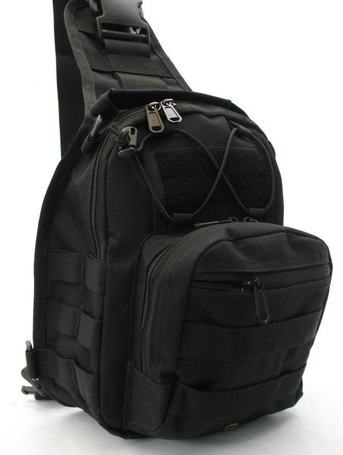 Тактический рюкзак однолямочный Silver Knight с системой M.O.L.L.E Bla
