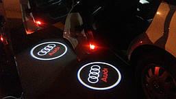 Подсветка в двери с логотипом Audi (Ауди)