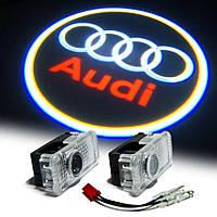 Подсветка дверей с логотипом авто Audi (Ауди). Подсветка в двери led