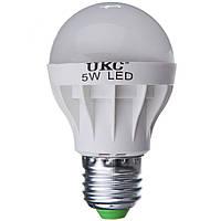 Лампочка LED LAMP E27 5W круглая, светодиодная энергосберегающая