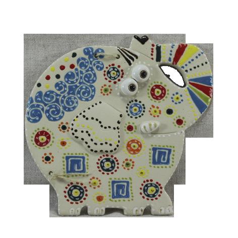 """Сувенир керамический """"Слон"""" белый хобот вверх"""