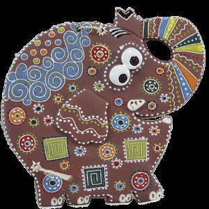 """Сувенир керамический """"Слон"""" коричневый хобот вверх"""