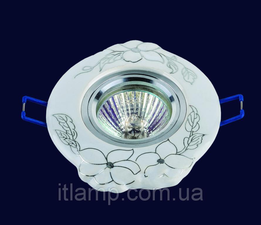 Врезной светильник со стеклом 70599CR