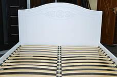 Кровать Анжелика (1,60 м.) (Белый супер мат), фото 3