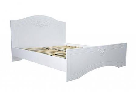 Кровать Анжелика (1,60 м.) (Белый супер мат), фото 2