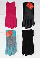 Женские флисовые перчатки одинарные