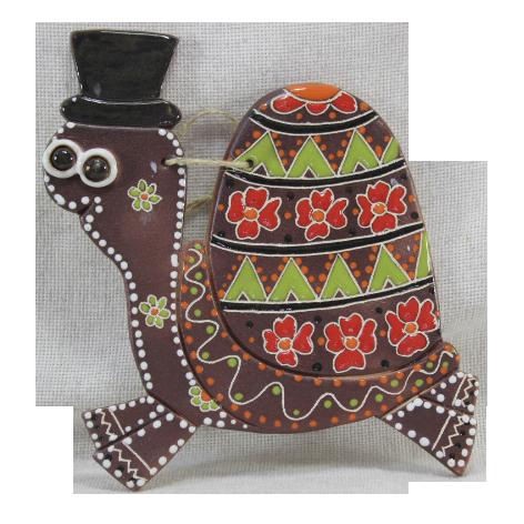 Сувенир керамический «Черепашка джентльмен»