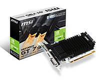 Видеокарта GeForce GT730, MSI, 2Gb DDR3, 64-bit, VGA/DVI/HDMI, 902/1600MHz, Silent (N730K-2GD3H/LP)