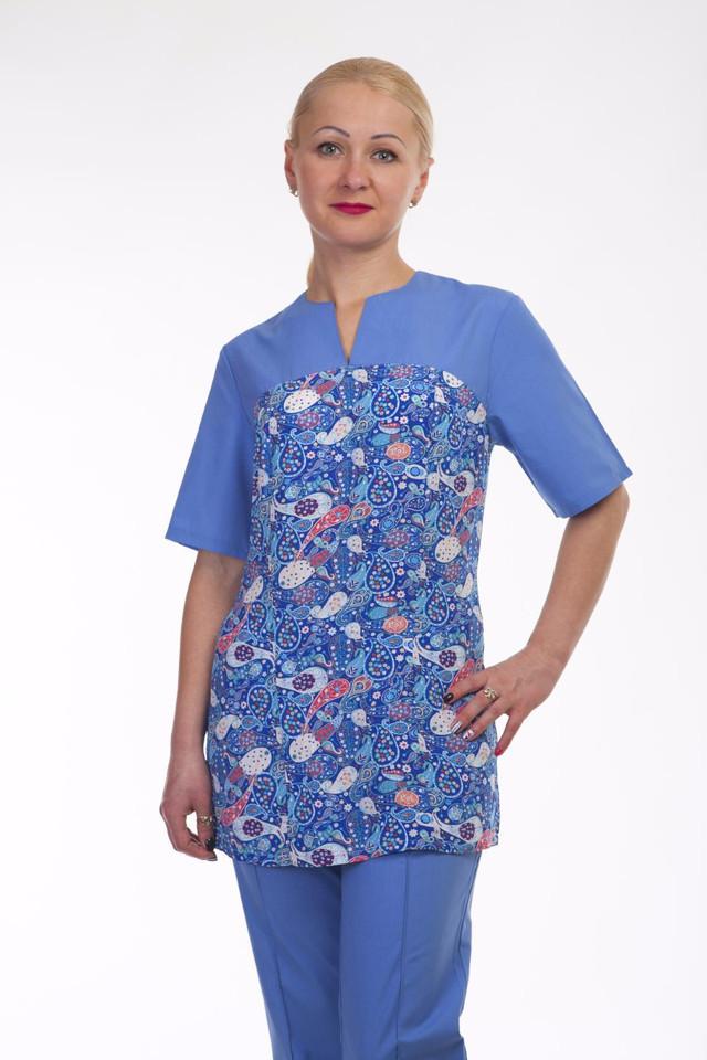 Оригинальный батистовый костюм медсестры с рисунком