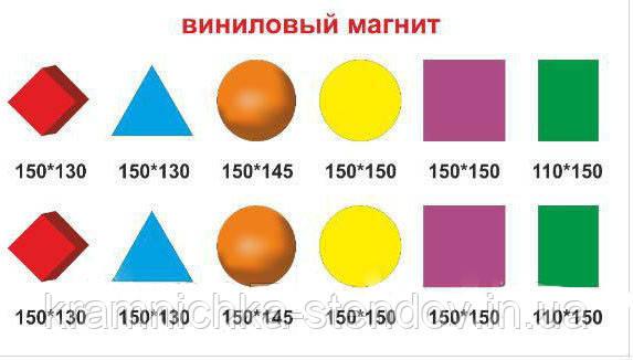 """Комплект виниловых магнитов """"Математические фигуры"""""""