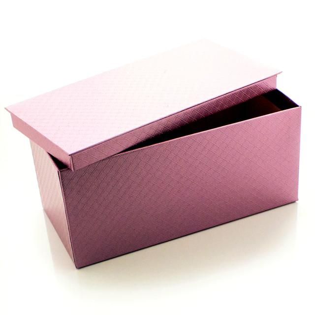 Подарочная коробка Сиреневый Металлик 21 x 9.5 x 10.5 см