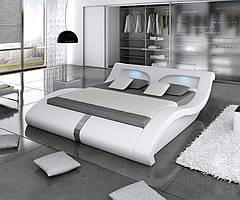 Кровать двуспальная с обивкой МАЛИБУ DUO 180х200