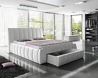 Кровать обита РОМА 140х200 с ящиками