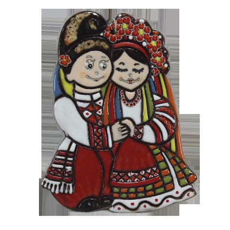 """Сувенир керамический """"Парочка украинцы"""""""