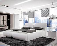 Кровать двуспальная с обивкой ROUND 180х200 с возможностью контейнера