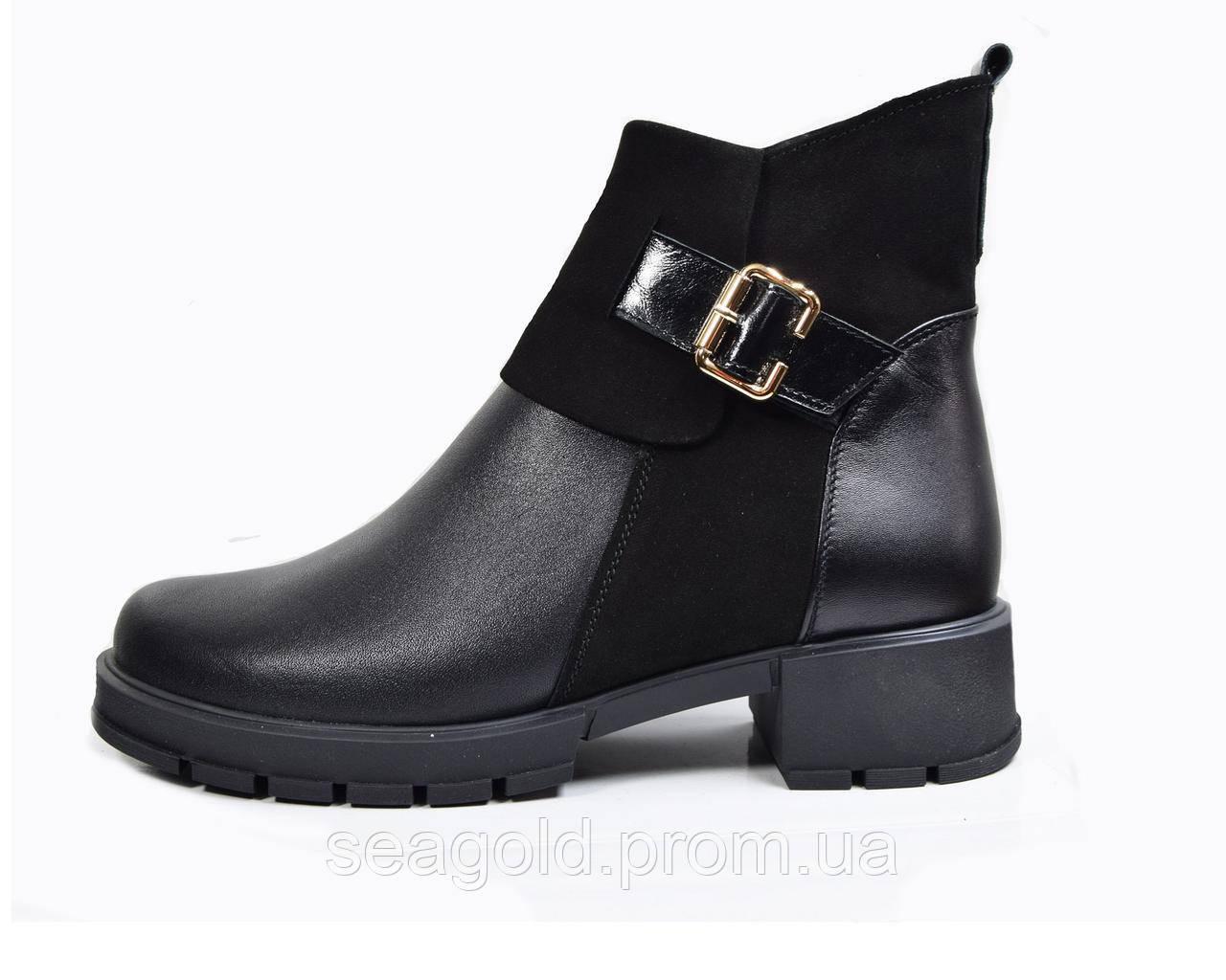 6ae8605295d7 Женские зимние модные кожаные ботинки мод.