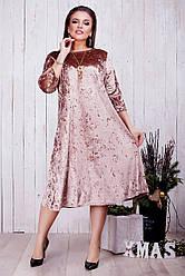 Женское бархатное платье (46-60) 8211