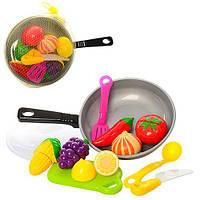 Продукты A306на липучке, сковородка, досточка, нож, лопатка,