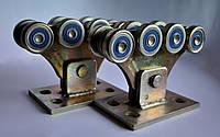 Усиленный комплект фурнитуры для откатных ворот весом до 350кг (металлические ролики)