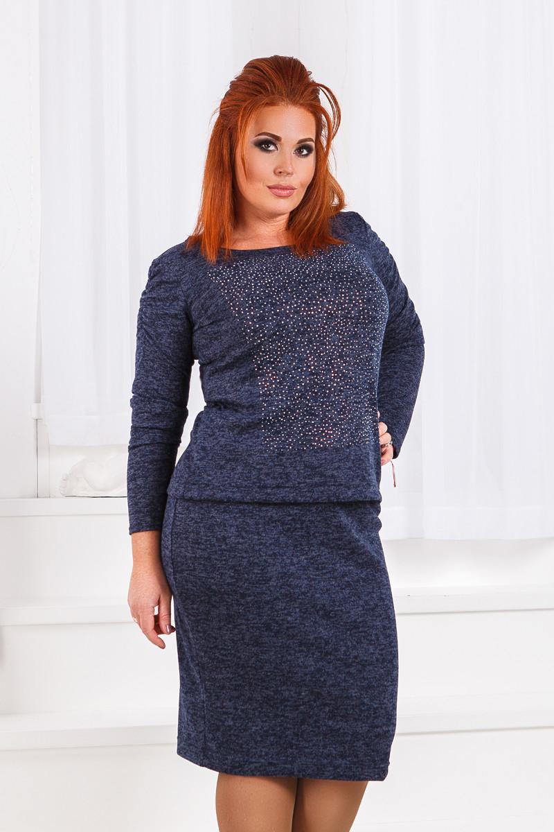 ДС1282/1 Костюм ангоровый кофта+юбка размеры 50-56