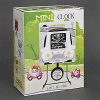 "Часы LM 7361 ""Автомобиль"" (72/2) 3 вида, на батарейке, в коробке"
