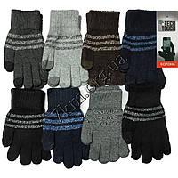 Перчатки подростковые одинарные шерсть для смартфонов 10-14 лет Оптом 5683 XL