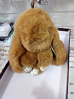 Брелок из натурального меха заяц 17 см