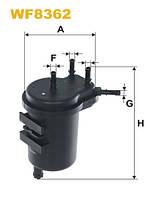 Фильтр топлива NISSAN WF8362/PS980/2 (производитель WIX-Filtron) WF8362