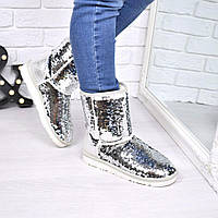 Угги женские UGG Shine STAR серебро 3883 41 размер, зимняя обувь