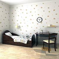 """Кровать для подростков с ящиками """"Берто"""" 70х140 (орех лесной)"""