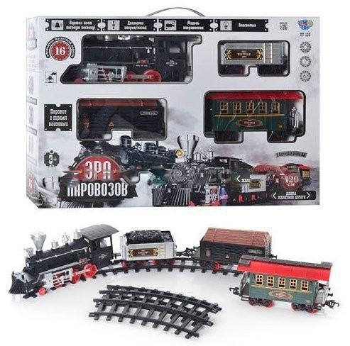 """Детская железная дорога """"Эра паровозов"""" 701830 R/YY 126 (длина пути 420 см) со звуковыми и световыми эффектами"""