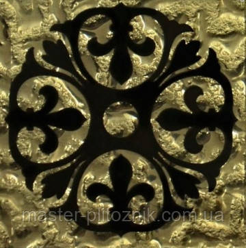 Вставки напольная Grand Kerama Tako 6,6x6,6 бутон золото