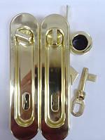 Замок для раздвижной двери AGB ВО1906.50.03 WC+1 ключ золото