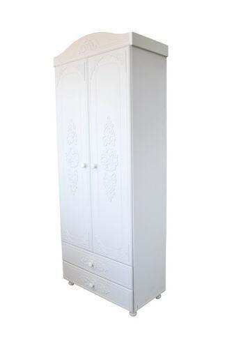 Шкаф Анжелика 2-дв. (Белый супер мат)