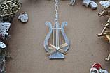 Новогодняя игрушка арфа музыкальная с бантиком, фото 2