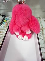 Брелок заяц из натурального меха